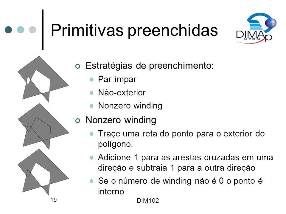 Primitivas preenchidas