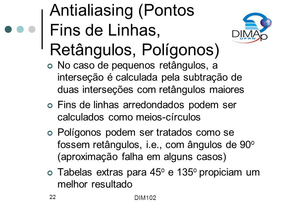 Antialiasing (Pontos Fins de Linhas, Retângulos, Polígonos)