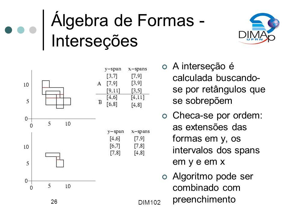 Álgebra de Formas - Interseções