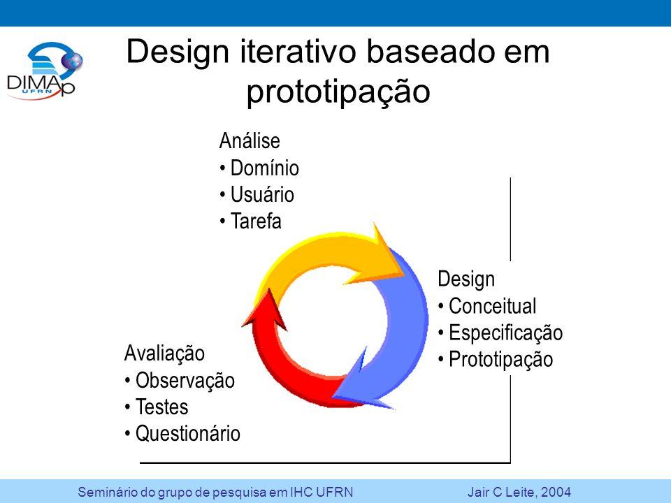 Design iterativo baseado em prototipação