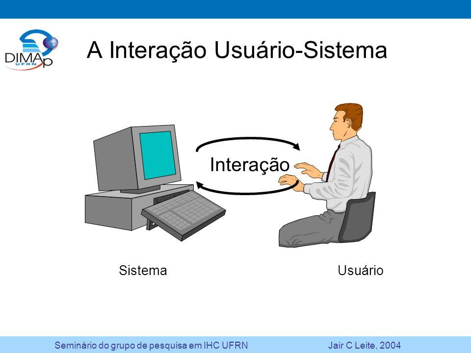 A Interação Usuário-Sistema