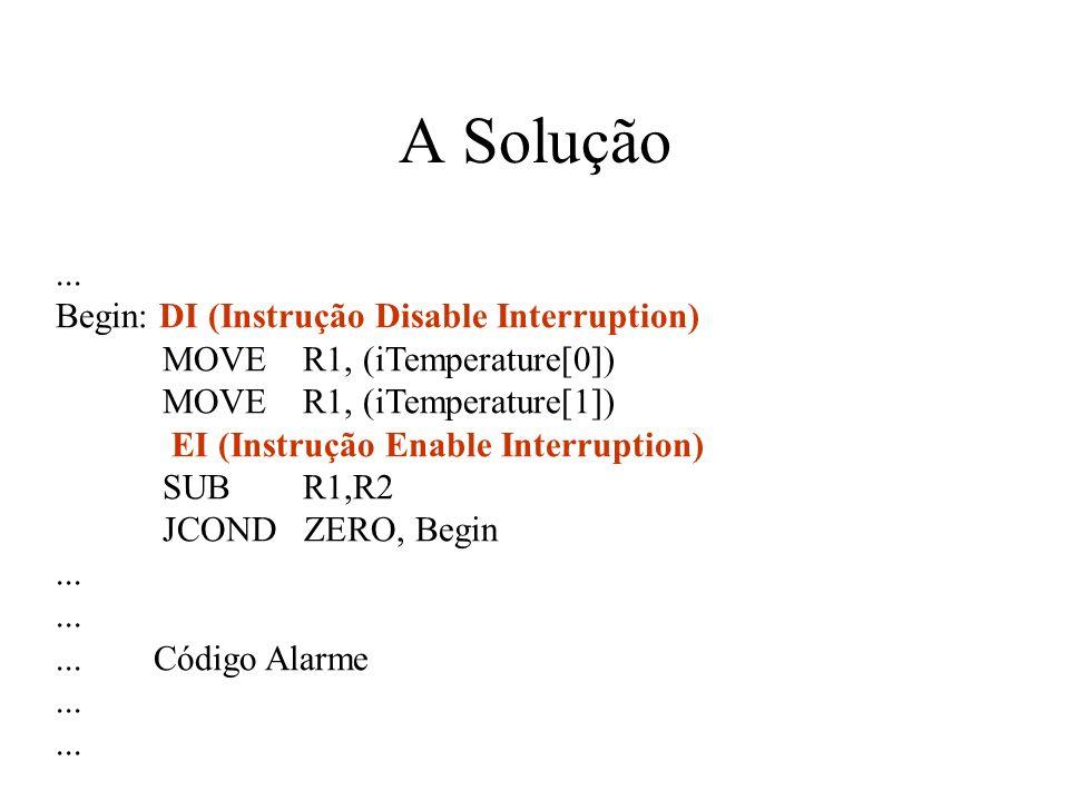 A Solução ... Begin: DI (Instrução Disable Interruption)