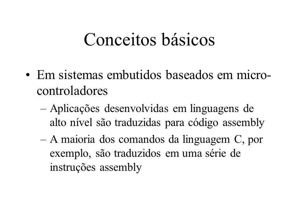 Conceitos básicos Em sistemas embutidos baseados em micro-controladores.