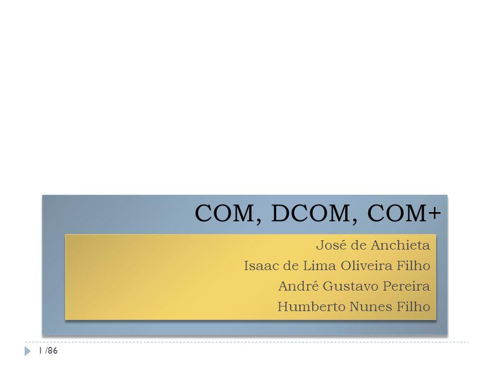 COM, DCOM, COM+ José de Anchieta Isaac de Lima Oliveira Filho
