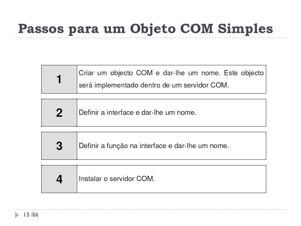 Passos para um Objeto COM Simples