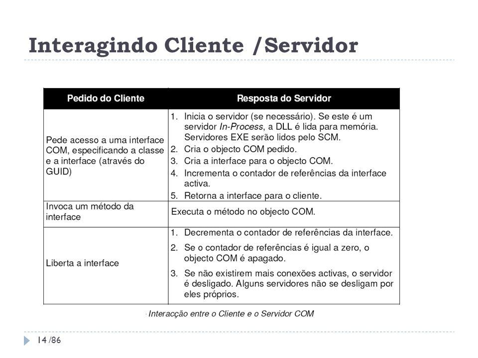 Interagindo Cliente /Servidor
