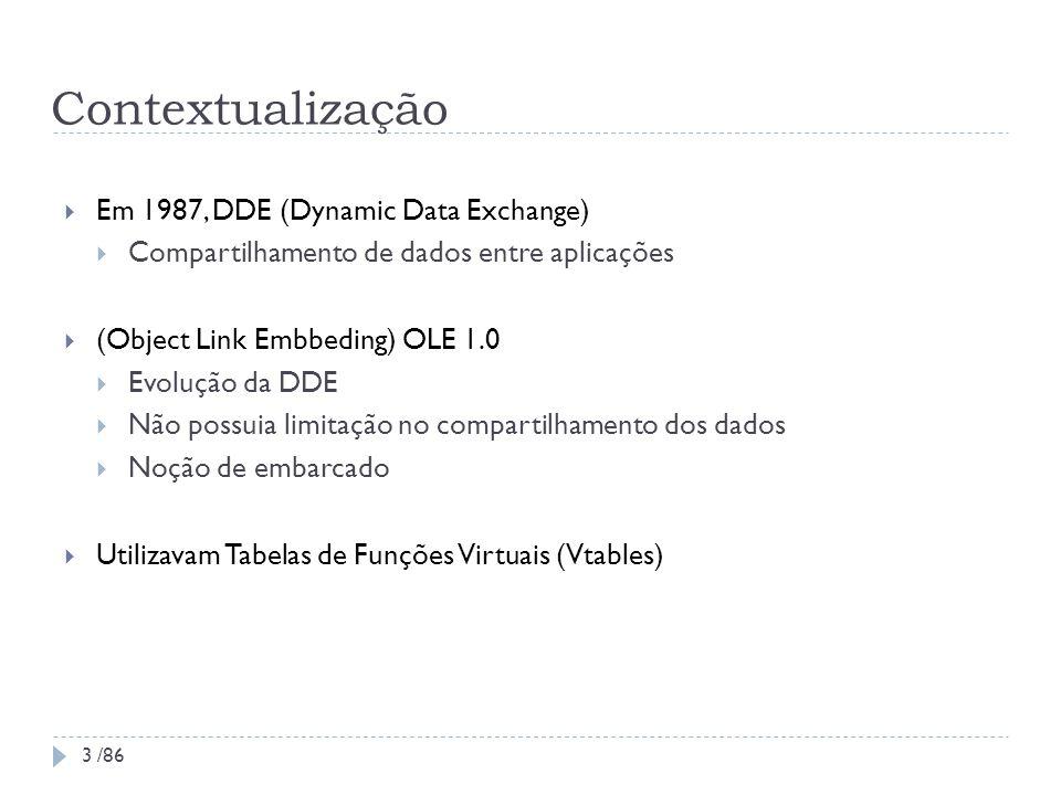 Contextualização Em 1987, DDE (Dynamic Data Exchange)