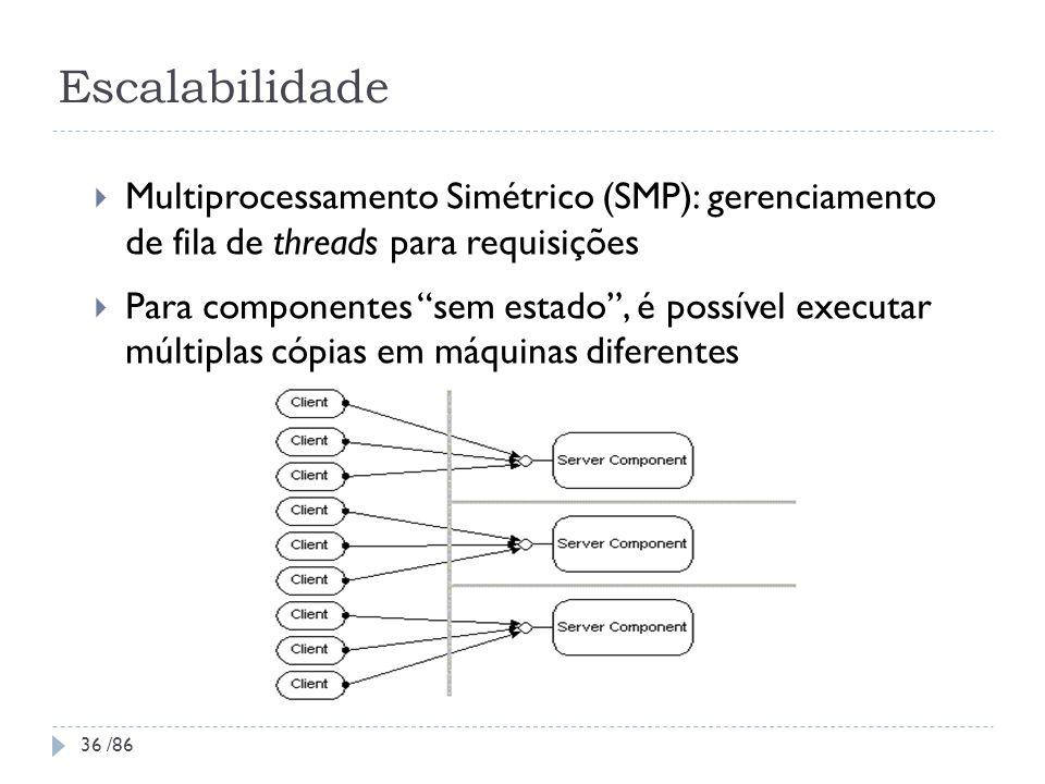 Escalabilidade Multiprocessamento Simétrico (SMP): gerenciamento de fila de threads para requisições.