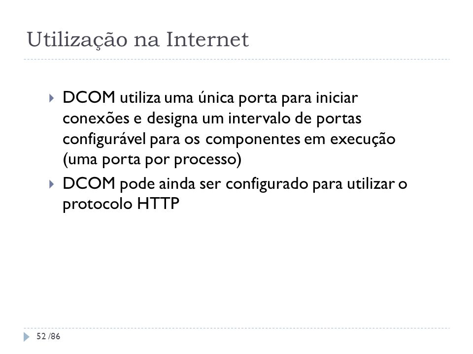 Utilização na Internet