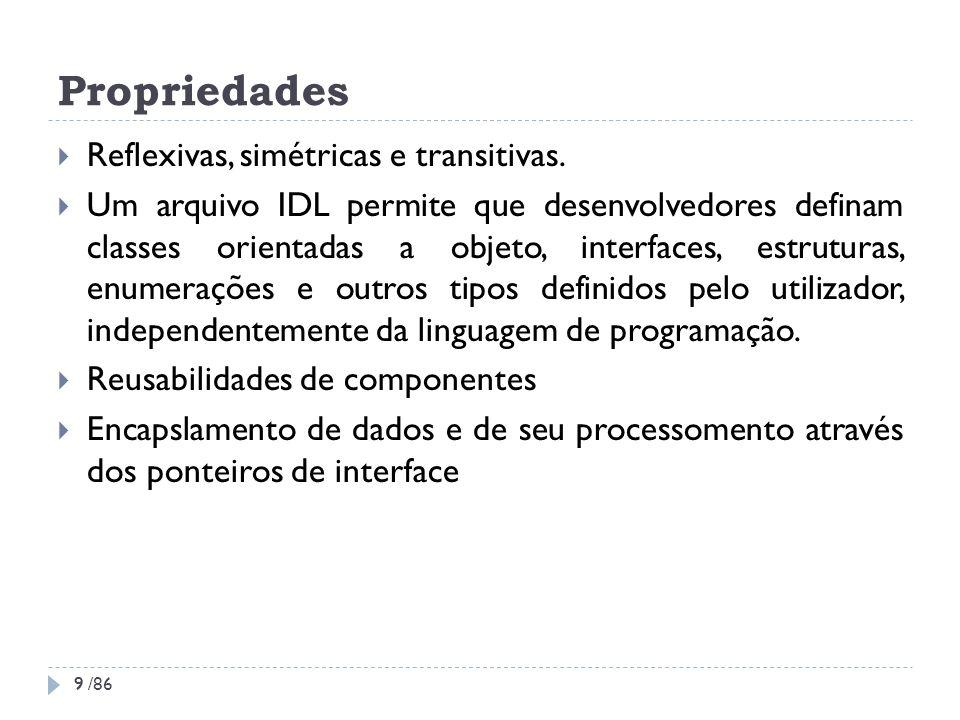 Propriedades Reflexivas, simétricas e transitivas.