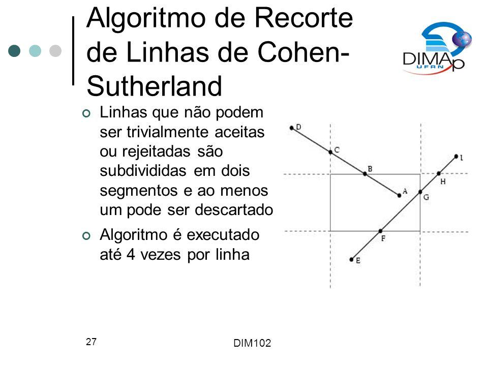 Algoritmo de Recorte de Linhas de Cohen-Sutherland