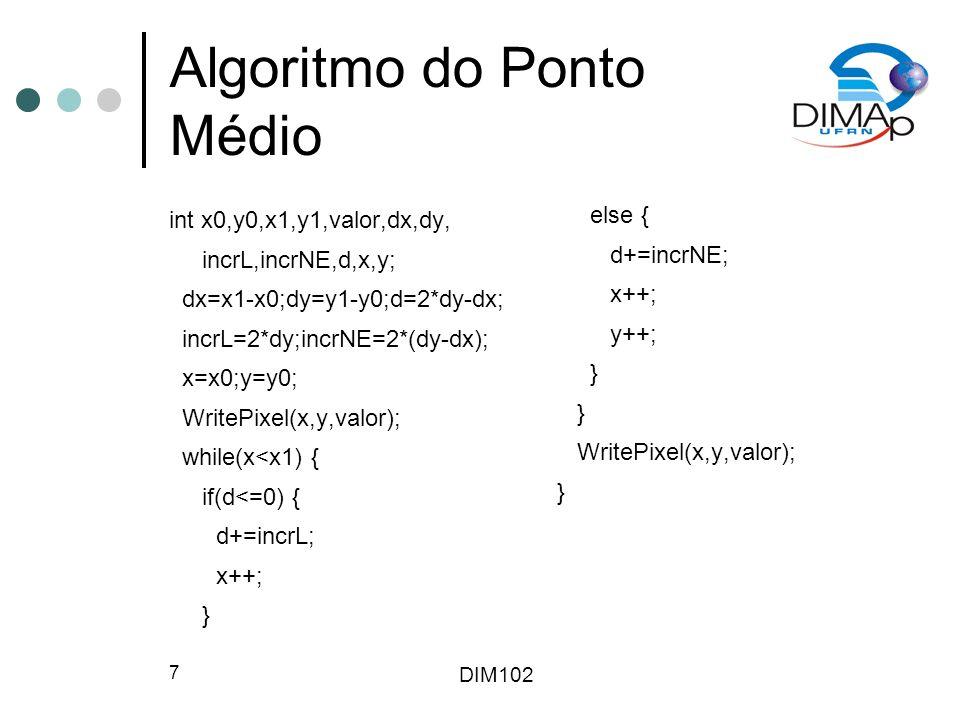 Algoritmo do Ponto Médio