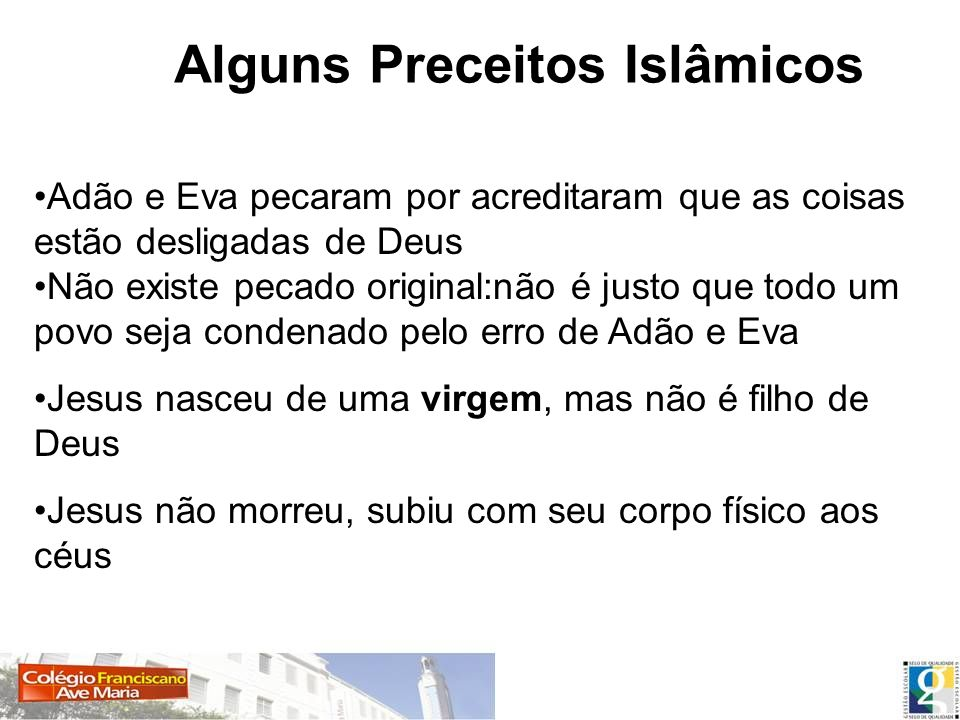 Alguns Preceitos Islâmicos