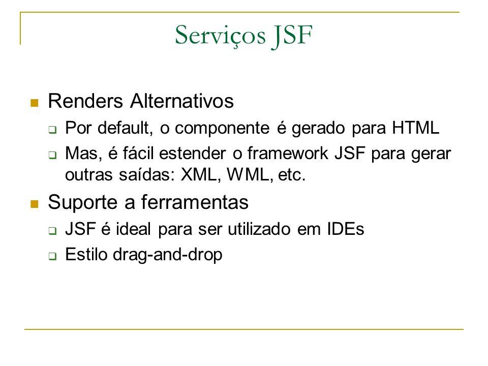 Serviços JSF Renders Alternativos Suporte a ferramentas