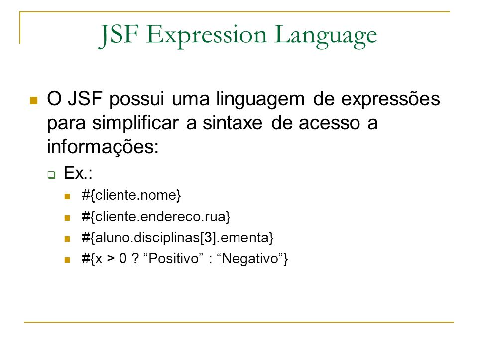 JSF Expression Language