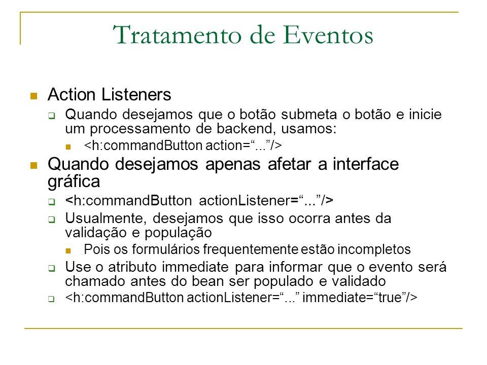 Tratamento de Eventos Action Listeners