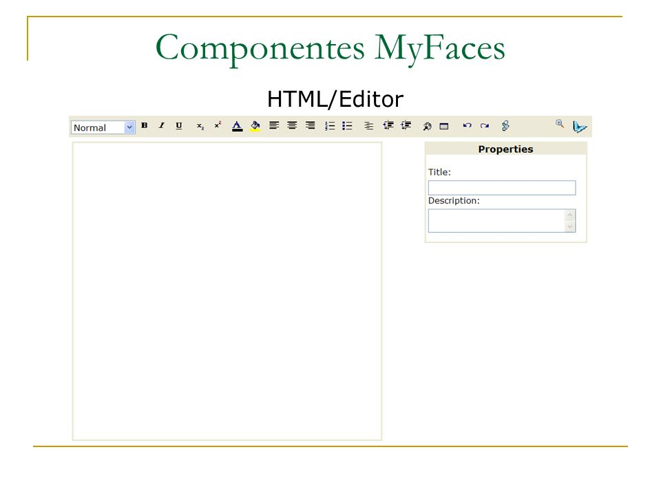 Componentes MyFaces HTML/Editor