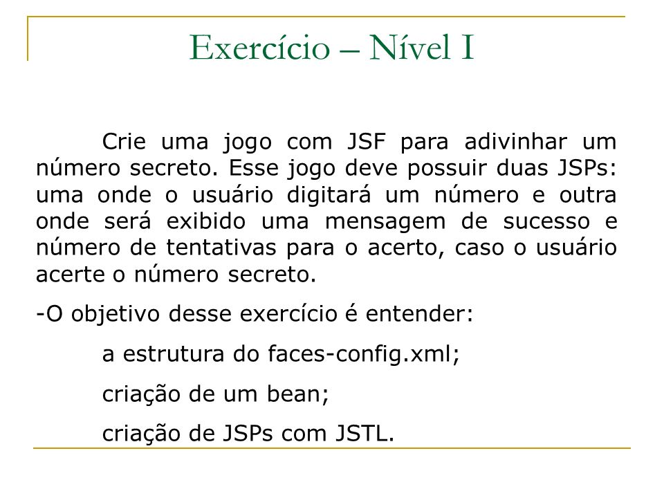 Exercício – Nível I
