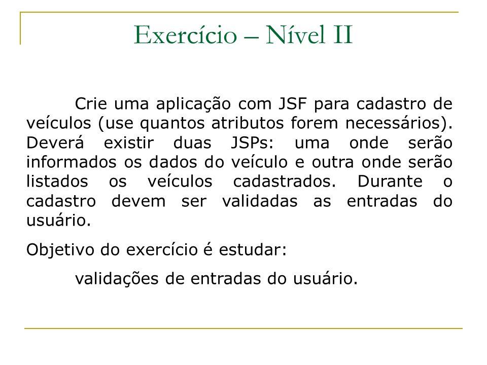 Exercício – Nível II