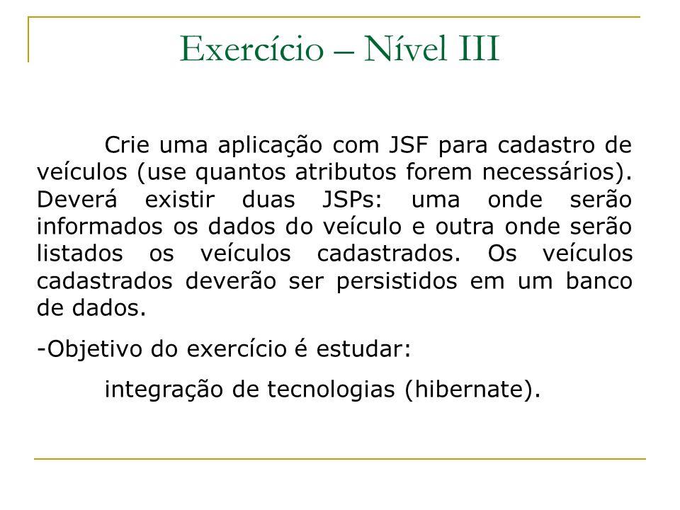 Exercício – Nível III
