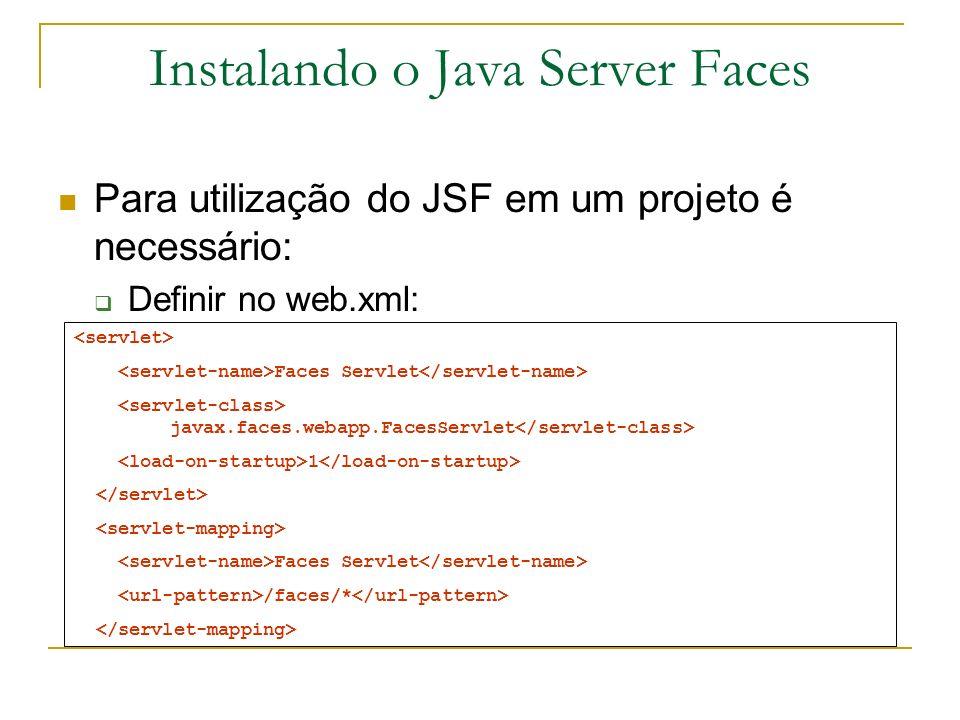 Instalando o Java Server Faces