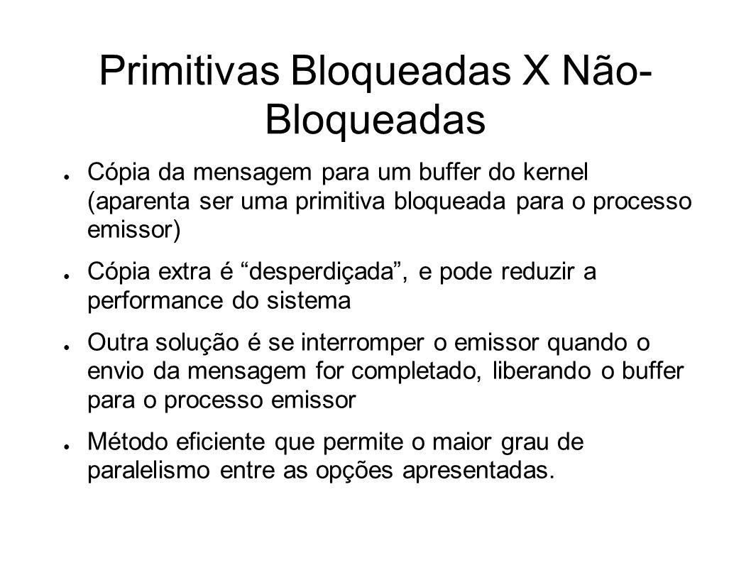 Primitivas Bloqueadas X Não-Bloqueadas