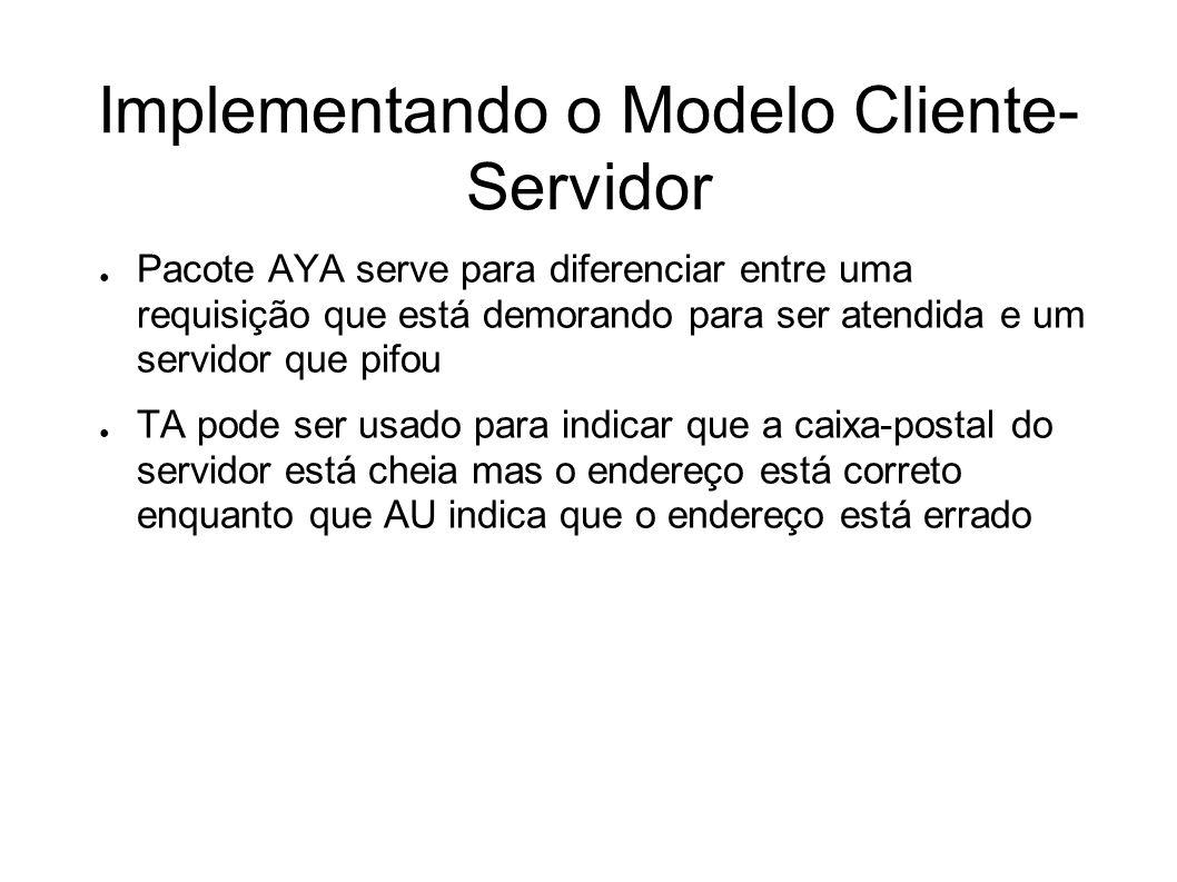 Implementando o Modelo Cliente-Servidor