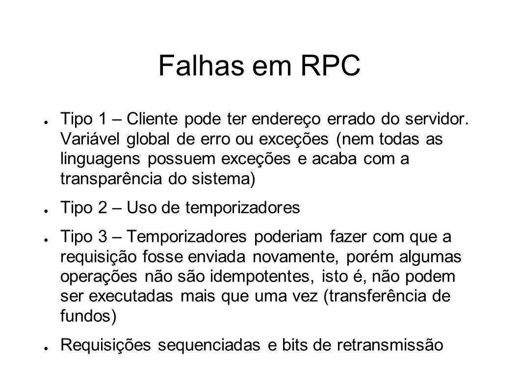 Falhas em RPC