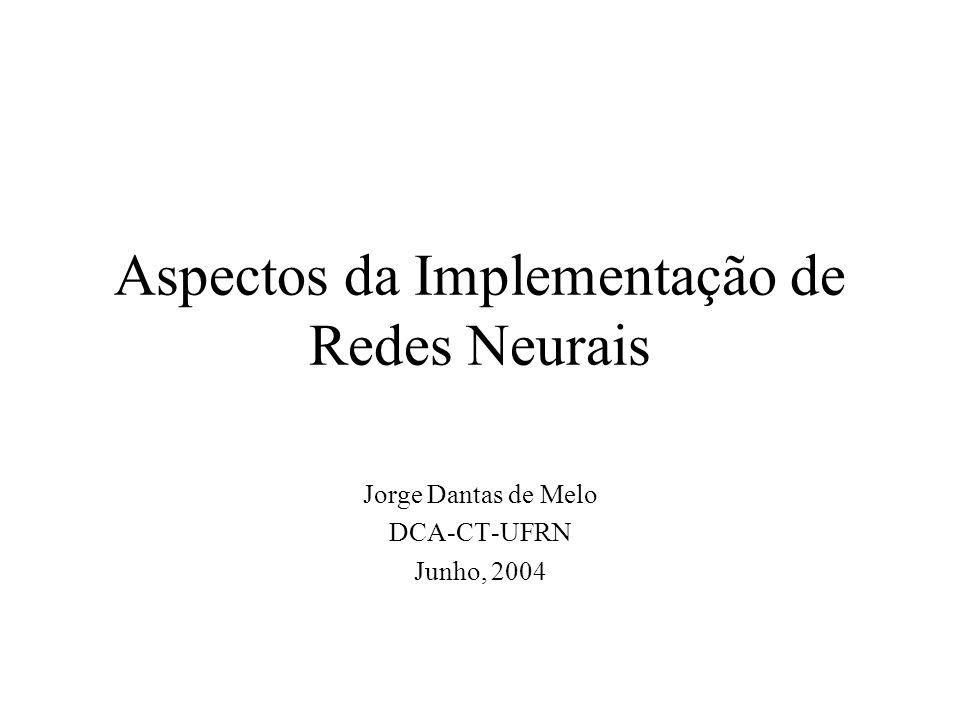 Aspectos da Implementação de Redes Neurais