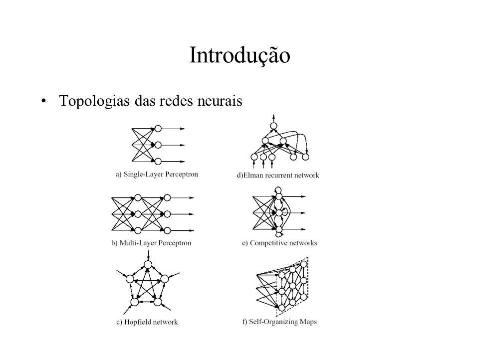 Introdução Topologias das redes neurais