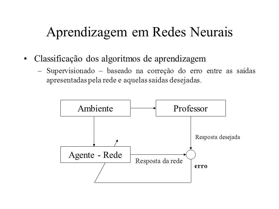 Aprendizagem em Redes Neurais