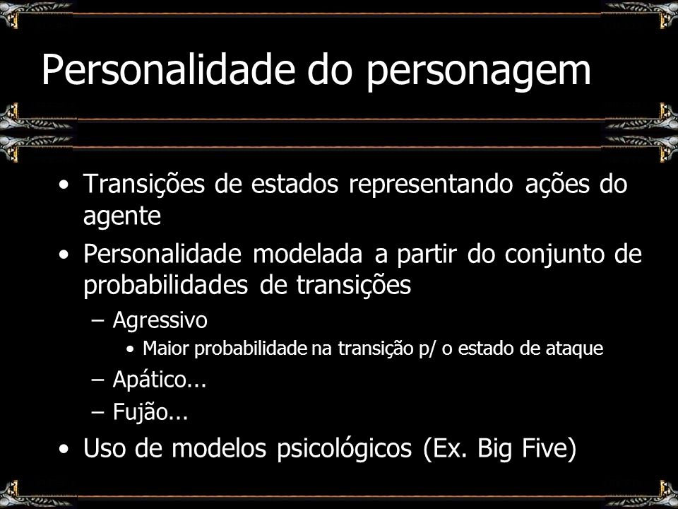 Personalidade do personagem