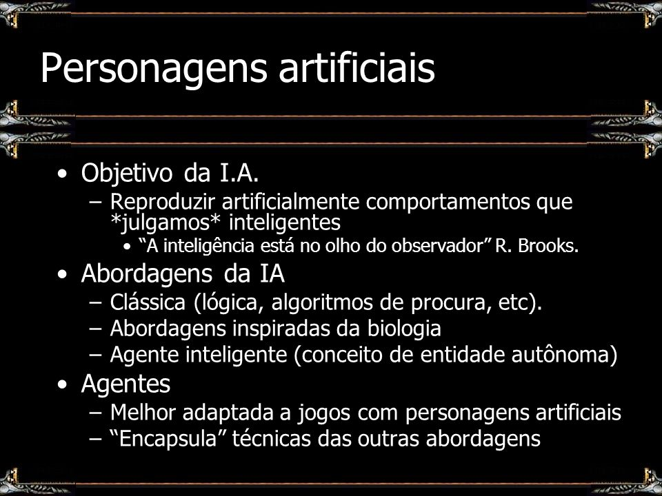 Personagens artificiais