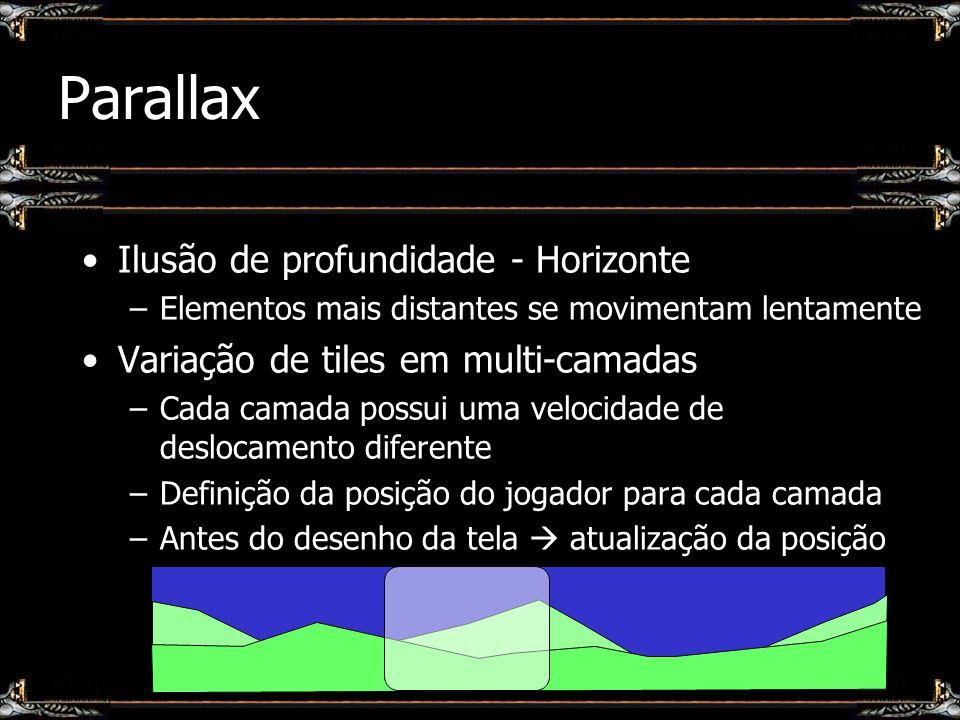 Parallax Ilusão de profundidade - Horizonte