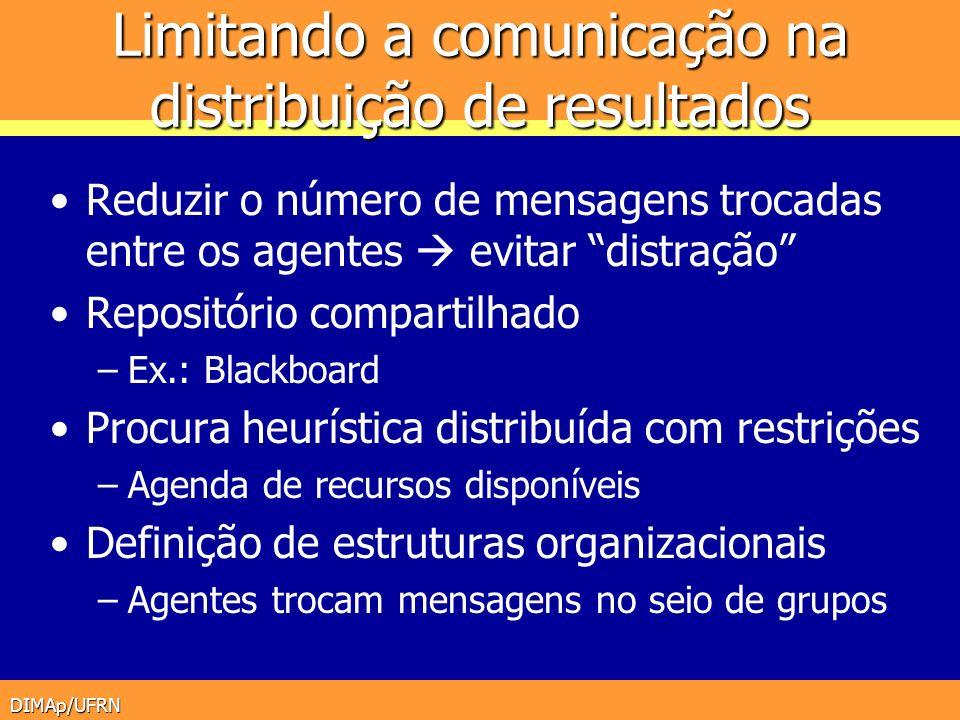 Limitando a comunicação na distribuição de resultados