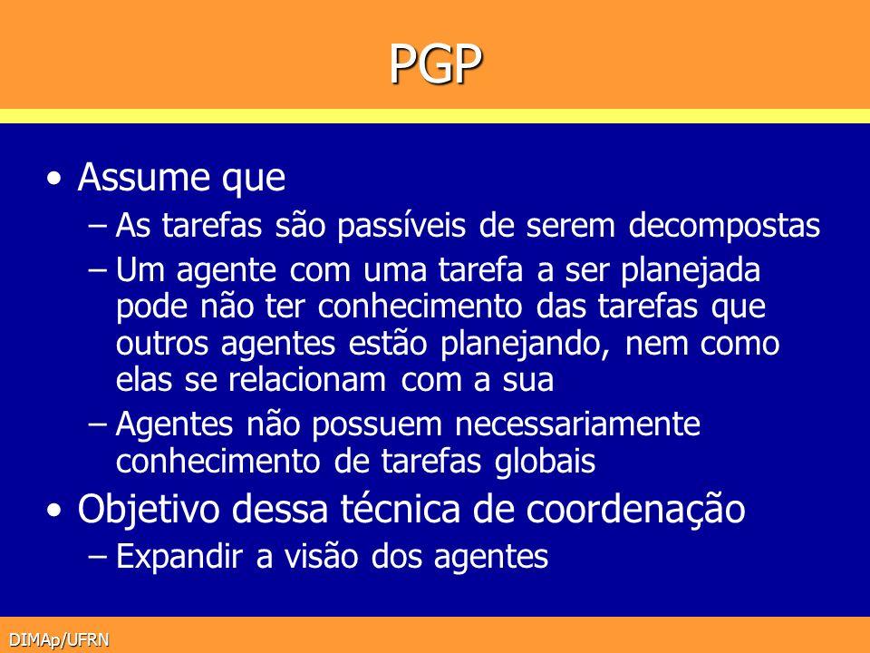 PGP Assume que Objetivo dessa técnica de coordenação