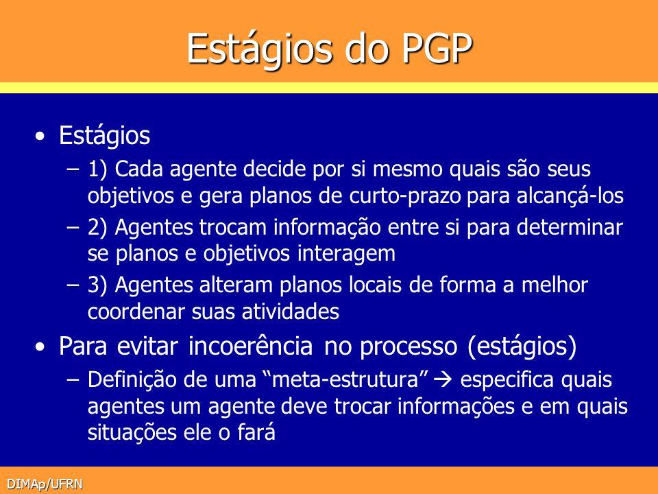 Estágios do PGP Estágios