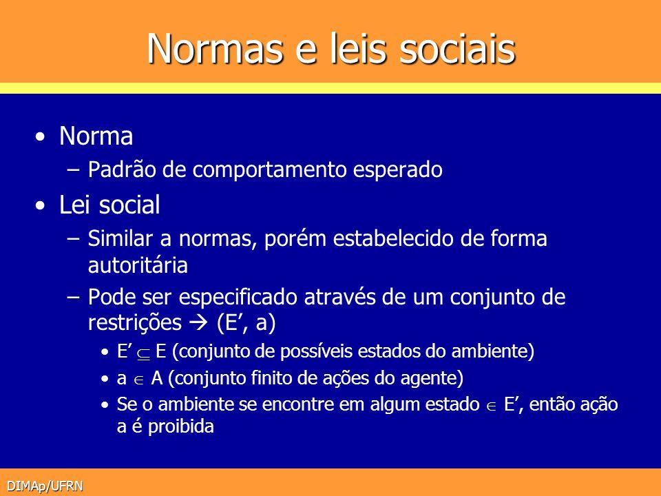 Normas e leis sociais Norma Lei social
