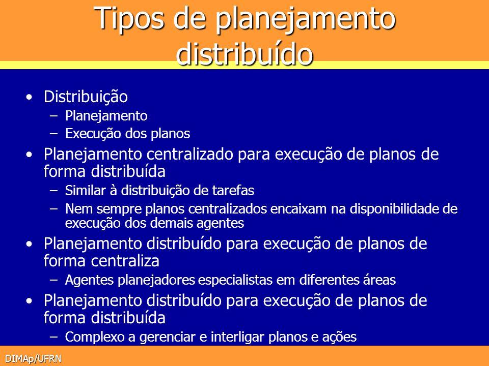 Tipos de planejamento distribuído