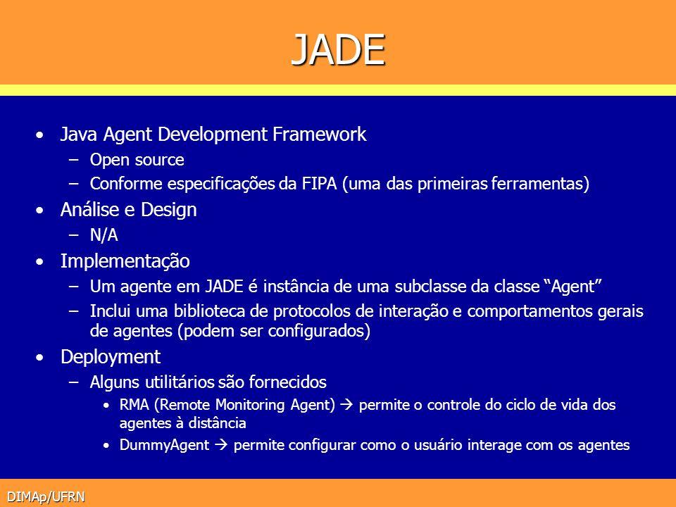 JADE Java Agent Development Framework Análise e Design Implementação