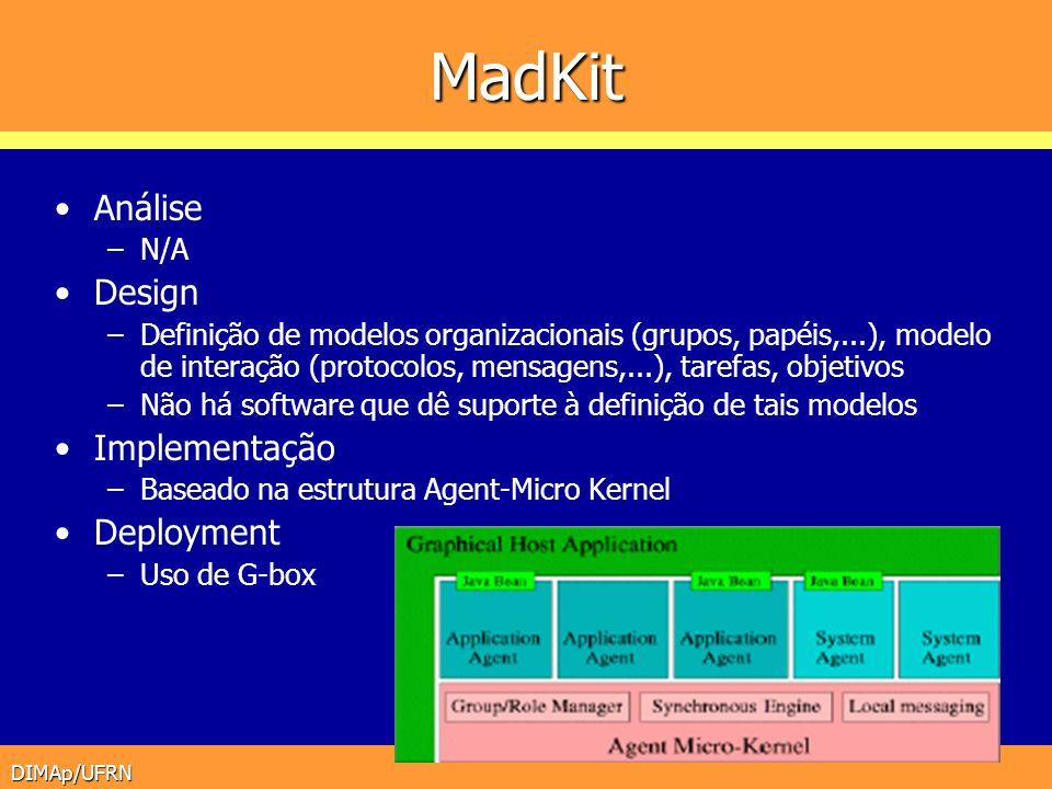 MadKit Análise Design Implementação Deployment N/A