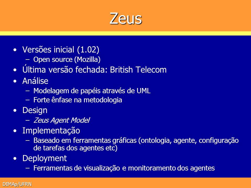 Zeus Versões inicial (1.02) Última versão fechada: British Telecom