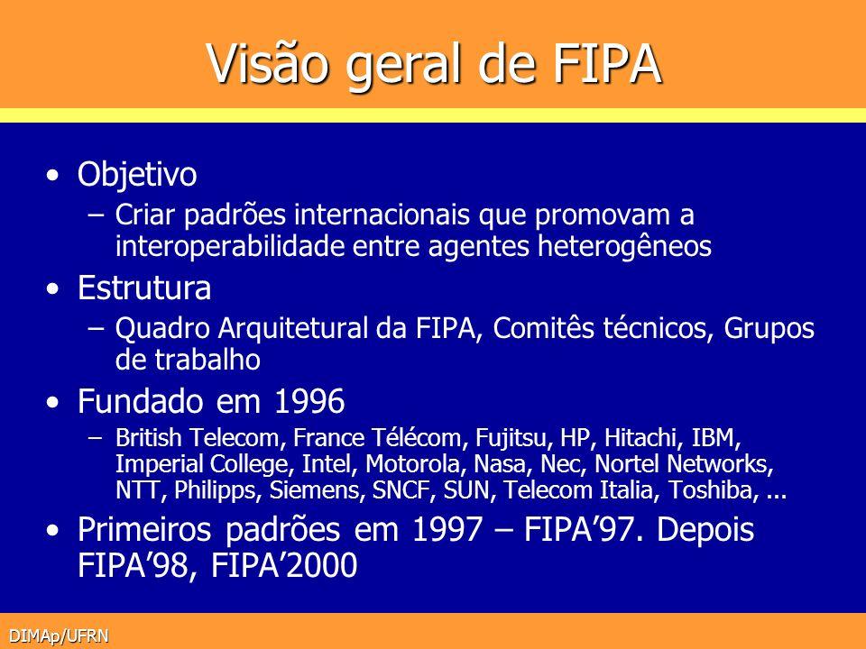 Visão geral de FIPA Objetivo Estrutura Fundado em 1996