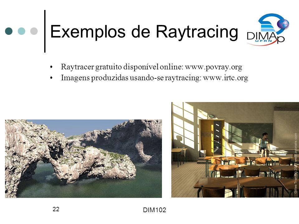 Exemplos de Raytracing
