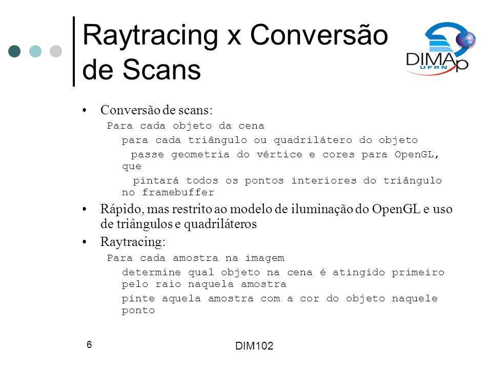 Raytracing x Conversão de Scans
