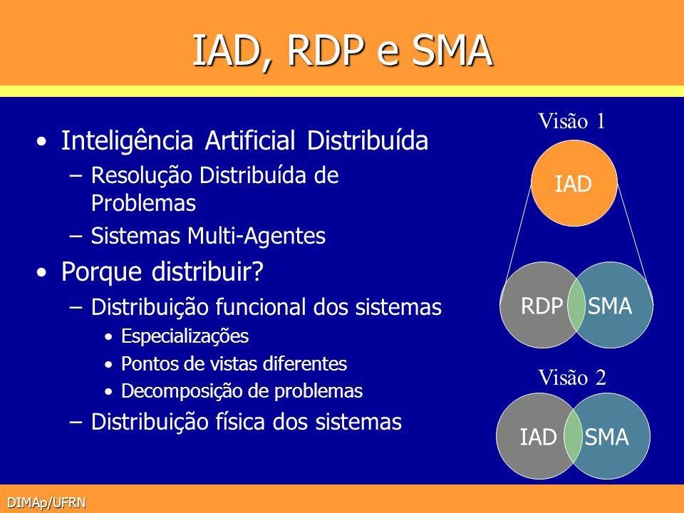 IAD, RDP e SMA Inteligência Artificial Distribuída Porque distribuir