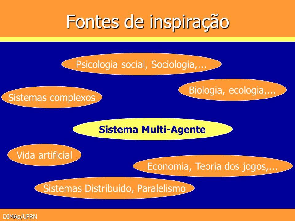 Fontes de inspiração Psicologia social, Sociologia,...