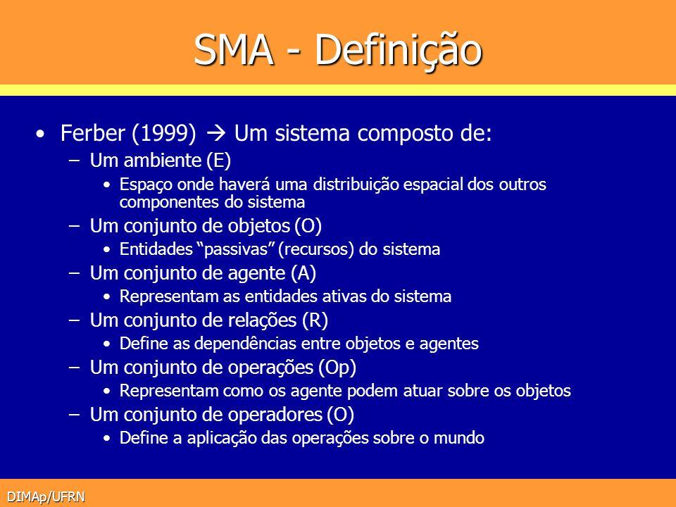 SMA - Definição Ferber (1999)  Um sistema composto de: