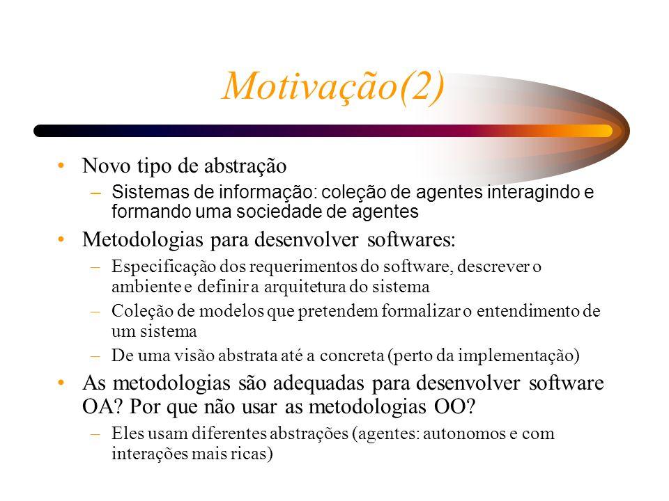 Motivação(2) Novo tipo de abstração