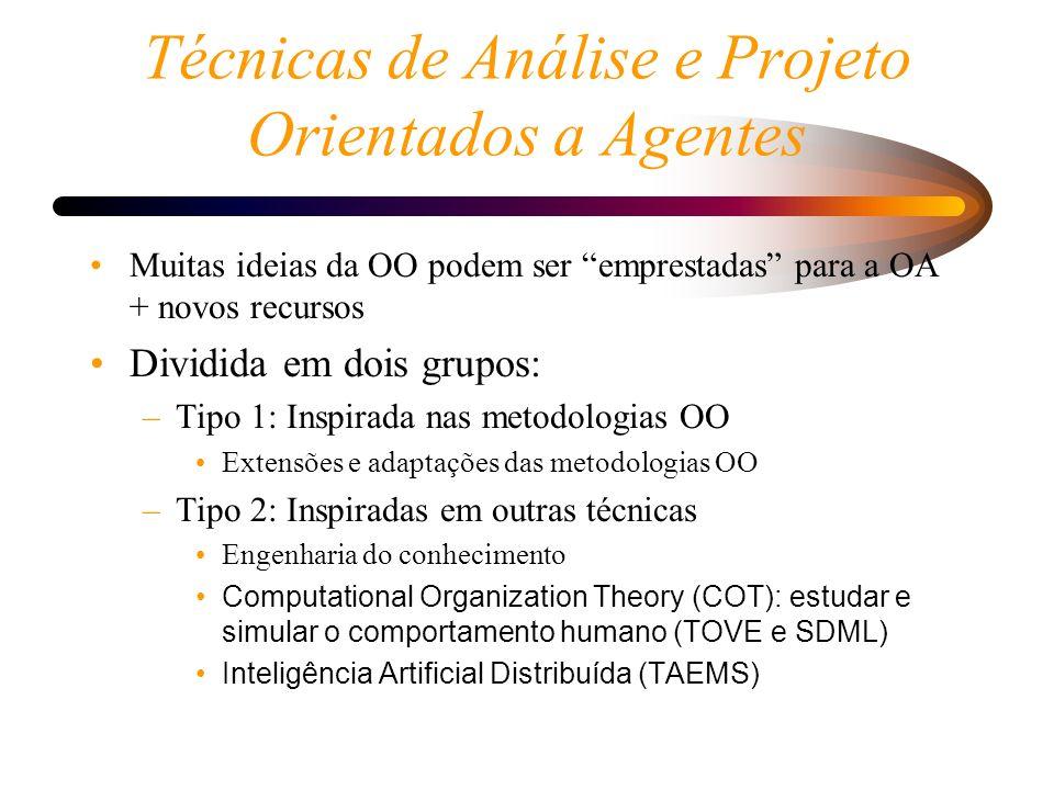 Técnicas de Análise e Projeto Orientados a Agentes